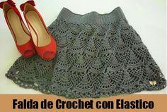 Falda de Crochet con Elastico Patron - Patrones Crochet