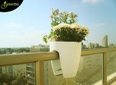 Greenbo Rail Planter Simply place your Greenbo planter on your railing, deck  or fence. State of the art unique design assures its secure fi...