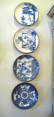 Set of 12 Japanese Blue and White Platters