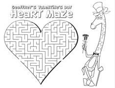 Printable Valentine's Day Activity Sheets for kids. Coloring pages, mazes, and word search