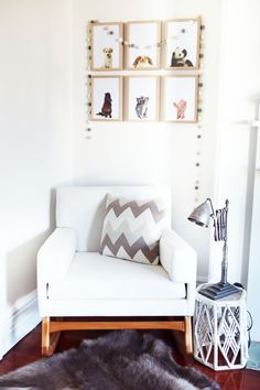 Modern, Gender Neutral Nursery - love that Rocking Chair from Hobbe Home!
