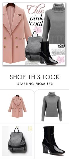 """Yoins Pretty Pink Coats"" by jecakns ❤ liked on Polyvore featuring pinkcoats, yoins, yoinscollection and loveyoins"