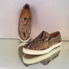 Fashion classic slip ons handcrafted in Bali from 100 % genuine python skin. Will be handmade especially for you with love, care and great attention to detail.