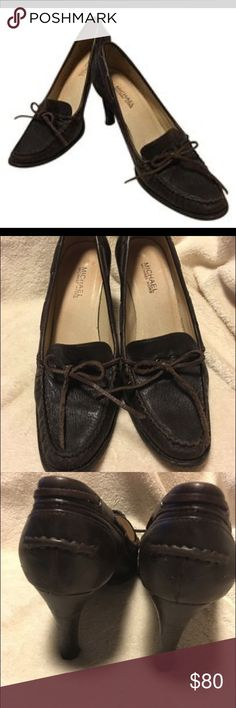 Michael Kors Soft Leather Tassel Slip On Loafer Gorgeous slip on pump, soft leather upper and sole with tassel, heel stitching, sole stitching, vero cudio stamped, wood heel, mint condition Michael Kors Shoes Heels