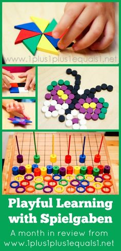Playful Learning with #Spielgaben ~ a month in review from www.1plus1plus1equals1.net