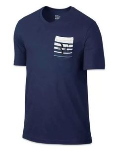 Nike Court Roger Federer RF Pocket Crew Tennis Shirt Mens M Navy 739477 410 #Nike #ShirtsTops