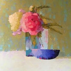 """The Gift by Carol Maguire Oil ~ 36"""" x 36"""""""