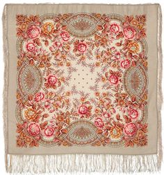 КУМУШКА 1453-,-2,, выпуск 2011 года Шерстяной платок 89х89
