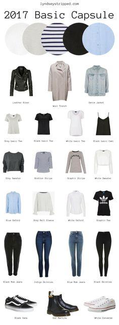 How to create a capsule wardrobe guide 2017. Minimalism, ethical fashion, slow fashion, sustainable fashion.