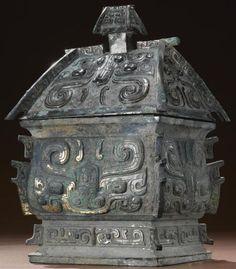 Bronze 'Fangyi' vessel, Western Zhou Dynasty .