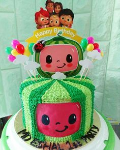 2nd Birthday Party For Girl, 1st Birthday Party Decorations, Second Birthday Ideas, Watermelon Birthday Parties, Turtle Birthday Parties, Birthday Celebration, First Birthdays, Princess Cakes, Cupcakes