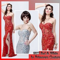 Sequined dresses by primavera couture