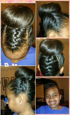 Braided Top Bun - #hairstyle #hairbun #bun #naturalhairstyle #Hairstyle #hairinspiration - bellashoot.com