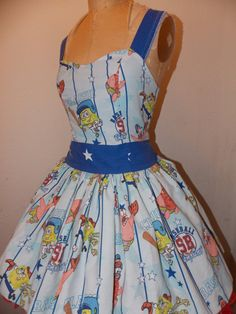 SpongeBob Squarepants and Patrick Striped by SweetHeartClothing