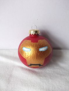 Avengers Iron Man Painted Holiday Christmas Ornament.