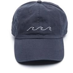 Wave Baseball Hat ( 28) ❤ liked on Polyvore featuring accessories ba31d4c5f9bf