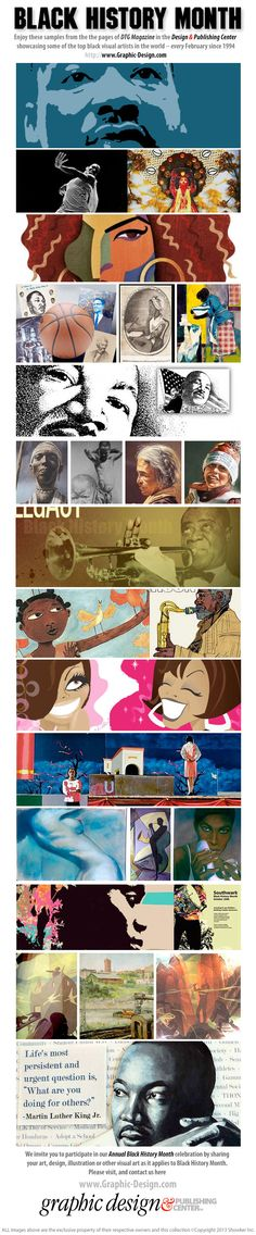Enjoy these samples from our BLACK HISTORY MONTH celebration every February in the Design & Publishing Center and DTG Magazine ....
