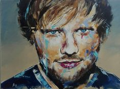 Ed Sheeran Painting Abstract Drawings, Abstract Print, Art Drawings, Ed Sheeran, Disney Paintings, Shops, Pencil Illustration, Interesting Faces, Portrait
