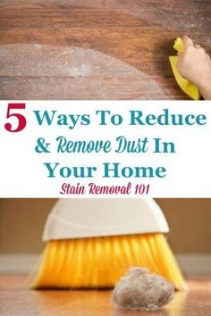 Here are 5 ways you can reduce and remove dust in your home to save yourself a lot of extra housework, as well as keep allergies at bay {on Stain Removal 101} #RemoveDust #DustRemoval #DustControl Deep Cleaning Tips, House Cleaning Tips, Cleaning Solutions, Spring Cleaning, Cleaning Hacks, Cleaning Services, Cleaning Products, Clean Baking Pans, Thing 1