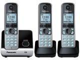 Telefone Sem Fio Panasonic Até 6 ramais - Identificador de Chamadas KX-TG6713LBB…