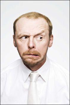 Simon Pegg emotions: blij, boos, bang, verdrietig? Ontdek de taal van emoties. TIP's op www.LEKKER-in-je-VEL-spel.nl