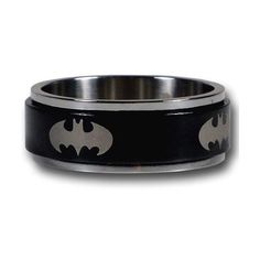 Cool Batman & Superman Stainless Steel Rings for the Superhero Within... ❤ liked on Polyvore