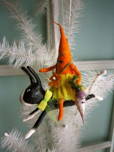 Spun Cotton Ornament  Garden Party Riders by MariePattersonStudio, $65.99
