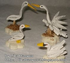 Beautiful Quilled Geese, Seagulls or Ducks-not sure which