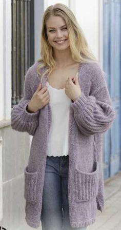 Free Knitting Pattern for Wayfarer Long Jacket
