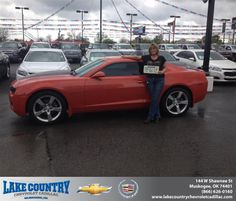 Congratulations to Tana Spears on your #Chevrolet #Camaro purchase from Dj  Collins at Lake Country Chevrolet Cadillac! #NewCar