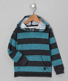 Take a look at this Gray & Blue Stripe Hoodie - Toddler by Micros on #zulily today!