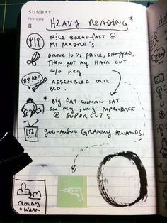 Now this is a great idea for journaling...instead od spewing every minute detail of your day!