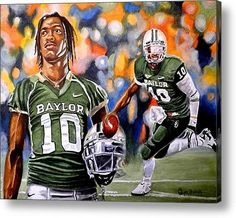 #RG3 painting, available as a metal, acrylic, canvas or framed print. Must convince Matt to put in his man cave.