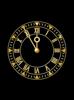 animated new year clock count down to midnight gif
