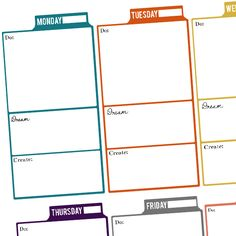 Free Printable Weekly Planner Preview