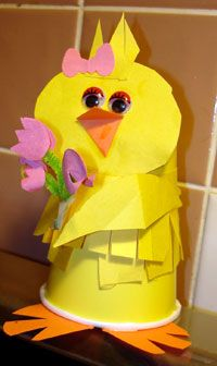 Holiday Kids Crafts.. Easter Chick