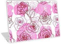 Grace & Appreciation - Pink Roses Floral Pattern | Design available for PC Laptop, MacBook Air, MacBook Pro, & MacBook Retina