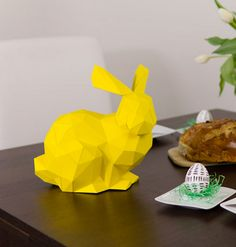 Printable 3D Easter Bunny Template
