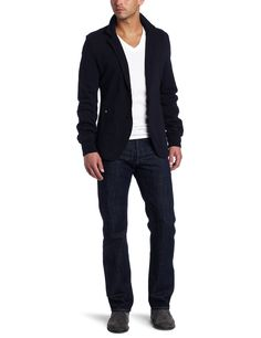 263f78ca9a661 J.C. Rags Men's Mixed Up Sweat Blazer, Dark Navy, Small at Amazon Men's  Clothing store: Blazers And Sports Jackets