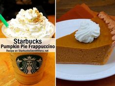 Starbucks Pumpkin Pie Frappuccino! #StarbucksSecretMenu Recipe here: http://starbuckssecretmenu.net/starbucks-secret-menu-pumpkin-pie-frappuccino/