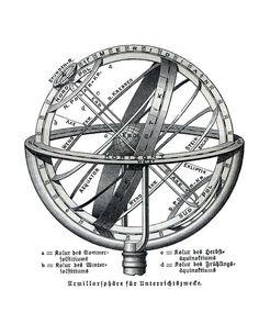 Armillary Sphere Spherical Astrolabe Globe by BackAlleysBackRoads