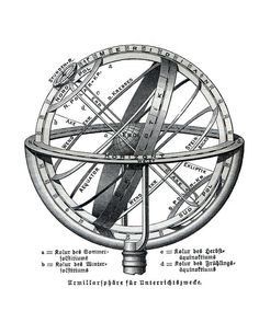 Armillary Sphere, an instrument used in astronomy. In its ...