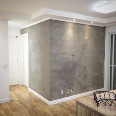 Esse é o resultado final da nossa parede pintada com a tinta #cromanil cimento…