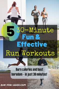 Try some of these boredom-busting, calorie-blasting, fun, and effective run workouts that can all be done in 30 minutes or less. Running Routine, Running On Treadmill, Treadmill Workouts, Running Workouts, Running Tips, Running Plans, Cardio, Running Plan For Beginners, How To Start Running