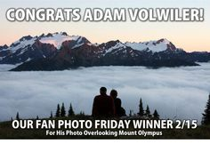 Congrats Adam Volwiler, you're our #FanPhotoFri favorite! We thought your view atop Mt. Olympus was truly breathtaking--we could smell the fresh air! #mountaintravelsobek