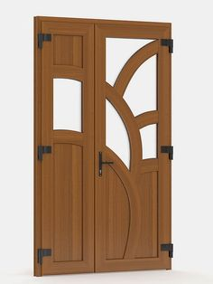 Wooden Front Door Design, Wooden Front Doors, Main Door Design, Double Doors Interior, Door Design Interior, Door Design Photos, Arched Doors, Wooden Stairs, Wooden Lamp