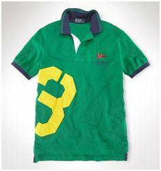 Polo Ralph Lauren particulière Classic-Fit Polo Crest New américains vert 7f391b190917