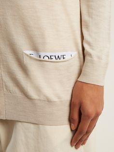 V-neck wool-blend cardigan Uni Fashion, Bleach Shirts, Fashion Details, Fashion Design, Clothing Labels, Apparel Design, Fashion Branding, Editorial Fashion, Knitwear