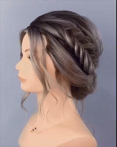 Updo Hairstyles Tutorials, Bun Hairstyles For Long Hair, Braids For Long Hair, Braided Hairstyles, Wedding Hairstyles, Hair Up Styles, Medium Hair Styles, Hair Style Vedio, Hair Tutorials For Medium Hair