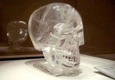 Crystal Skulls & New Crystal Data Storage Technology! Crystal Head Vodka, Brain Size, Crystal Skull, Skull And Bones, Skull Art, British Museum, Archaeology, Altered Art, Glass